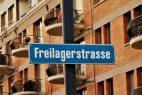 Freilagerstrassenschild