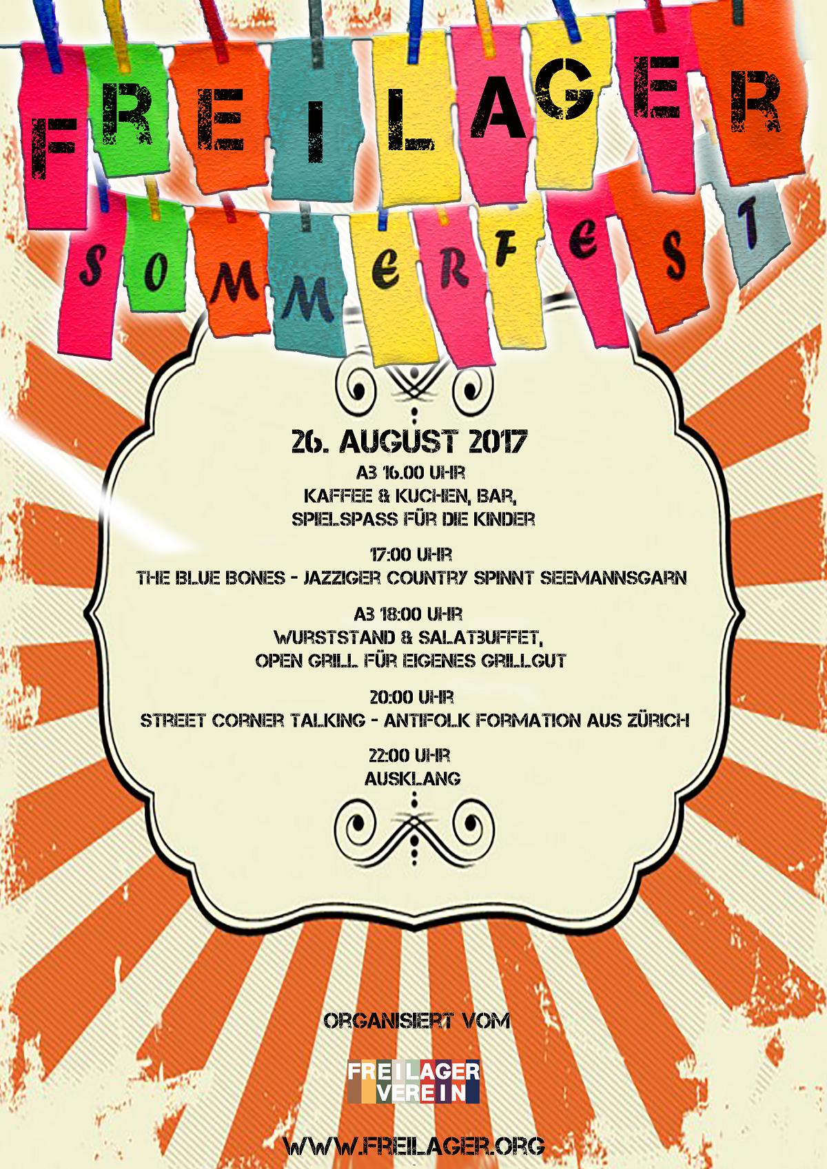 Flyer Freilager Sommerfest 2017