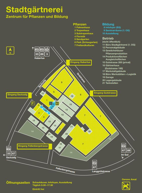 Stadtgärtnerei Plan