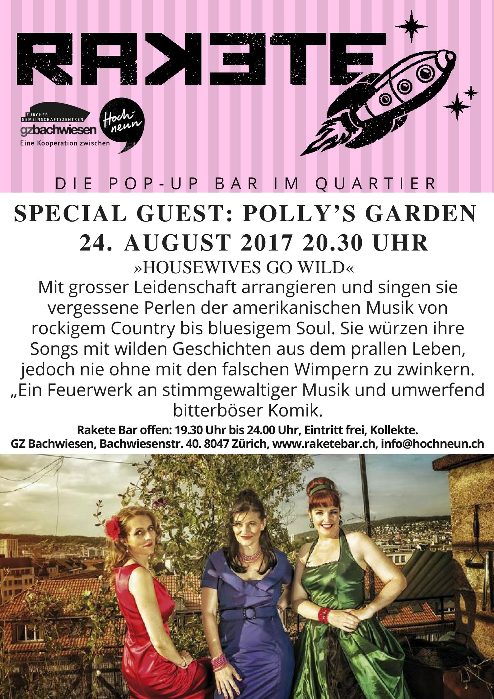 Pollys Garden in der Rakete